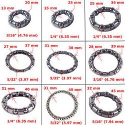 Bearings 1/4 in cage